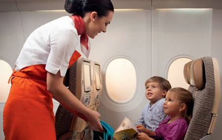 The Etihad Airways' Flying Nanny will interact and engage with children on long haul flights.