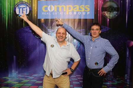 Rob Rowcett and Peter Knight from Compass Real Estate, the sole sponsor for the TFI Disco night, are in the mood for some Saturday Night Fever.