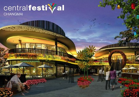 The soon to be opened Central Festival Chiang Mai located on the 2nd ring road.