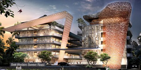 An artist's impression shows the completed Best Western Premier Sunset Road Kuta.