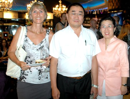 (L to R) Esther Kaufman, MD of My Office Travel, Kim and Pascal Schnyder, owners of Casa Pascal Fine Dining.