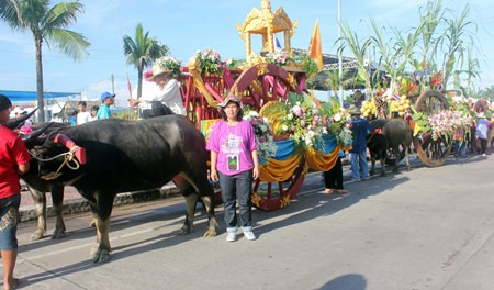 """The Oct. 14-20 festival outside Chonburi City Hall also highlighted traditional heritage, including the annual """"Kwienkan"""" parade."""