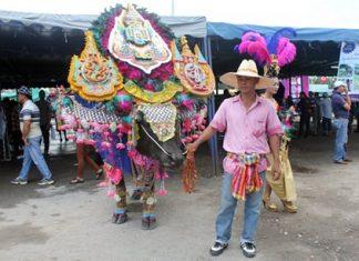 The annual festivities also include a buffalo costume contest.