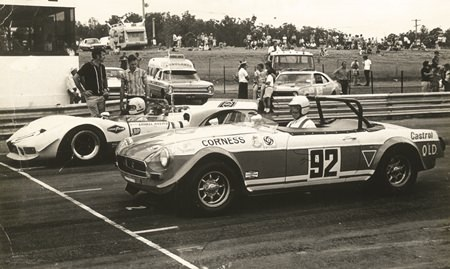 MGB on front row of grid 1970.