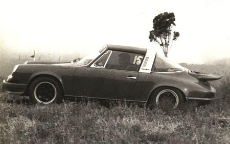 Porsche 911 in the mulga.