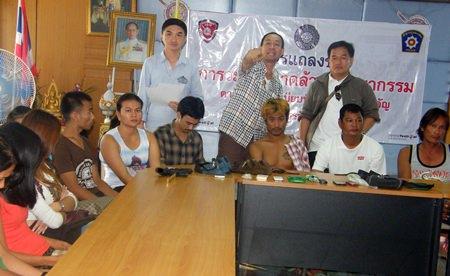 Chonburi police have arrested a gang of police impersonators, drug dealers, loan sharks and gamblers on Koh Larn.