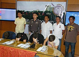 Four Lithuanian men have been arrested for ATM card theft.