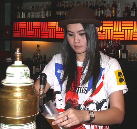 Bar girl.