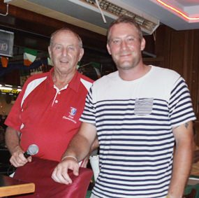 Sunday's winner Ulrik Sinding (right) with Golf Manager Colin.