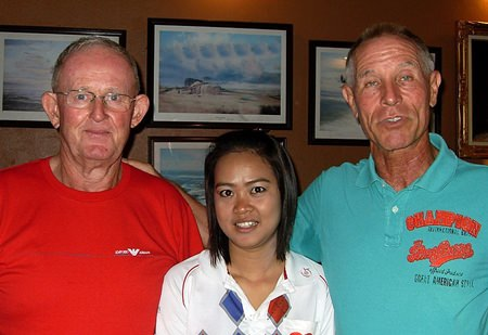 Tuesday winners, Max Scott (left) and Walter Baechli (right) with one of Bert's finest.