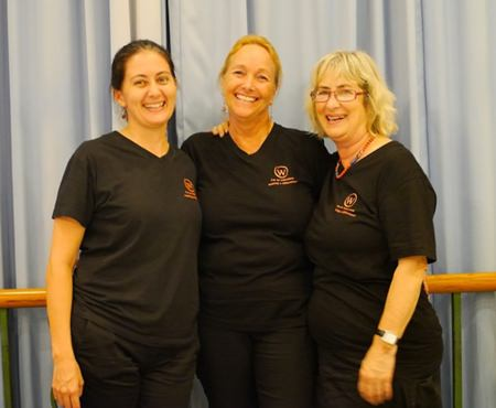Women With a Mission: (left-right) Kylie Grimmer, Rosanne Diamente and Bronwyn Carey.