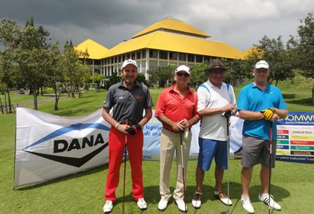 Threatening skies but the rain held off for a great day's golf at Pattana.
