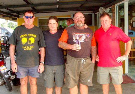 Friday scramble winners: Brian Maddox, Bruce McAdam, Owen Walkley and Neil Carter.