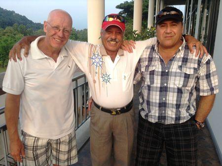 John Davis, Ebrahim & Bob Akapita.