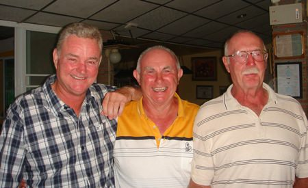 Scramble winners (L to R) Robert Cross, Jeff North and Geoff Couch.