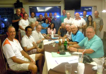 The Jomtien Golf crowd arrive in Chiang Mai for their annual road trip.