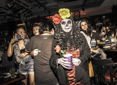 Alisa Panprasom, winner of the scariest costume contest at the Hard Rock Cafe Pattaya's Dead & Loved Rockers Night.