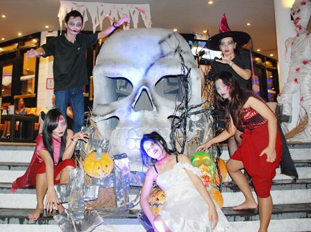 Ghouls, ghosts and goblins invade the Tavern by the Sea at the Amari Orchid Pattaya.