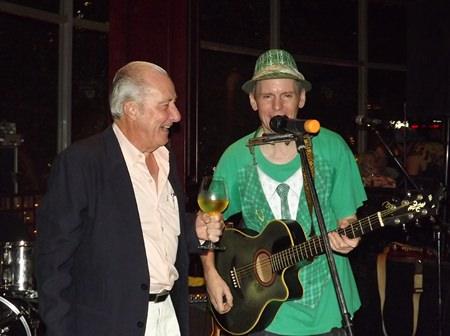 Doc joins Lee Shamrock on stage.