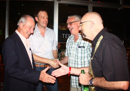 (L to R) Mr. 6th cycle has a laugh with Jonathan, Steve Graham and Paul Azzopardi.