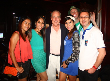 (L to R) Jeab Graham, Joy Azzopardi, Mr. 72, Wanna, Lee Shamrock (at the back), and Nigel Quenell.