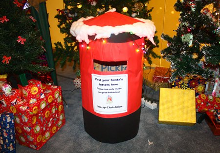 Santa's Grotto was complete with a post box where children could post their Christmas toy wish lists and tell Santa what they wanted.