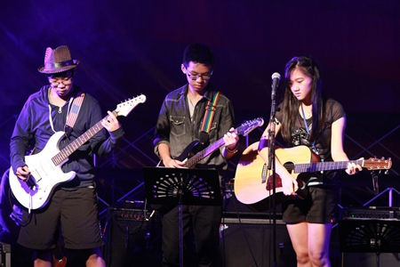 Young musicians display their various talents at the festival.