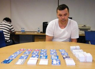 Australian Peter Junas has been arrested again, this time for allegedly using fake electronic cards to steal 10 million baht from Pattaya ATMs.