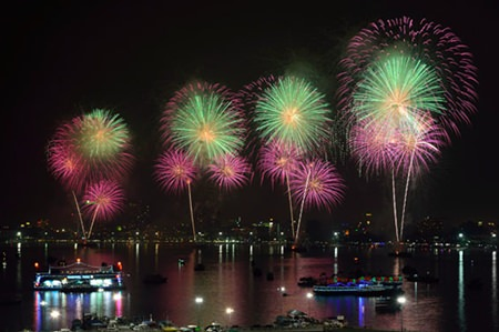 An exciting fireworks scene from last year's event.