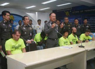 Police announce the arrest of several international fugitives captured in Pattaya and Bangkok.