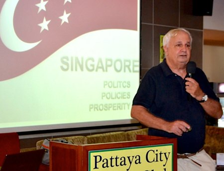In the space of 50 years Singapore became the richest country in the world; it went from having a standard of living equivalent to that of Viet Nam, to one that all of Europe now envies. Rey Buono summed it up for the Pattaya City Expats Club at their Sunday, October 27 meeting.