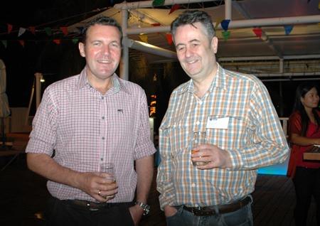 (L to R) Paul Wilkinson, GM of JVK International Movers Ltd., and Mark Butters, Director, RSM Advisory Thailand Ltd.