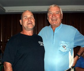 Dave Driscoll (left) with Peter Henshaw.