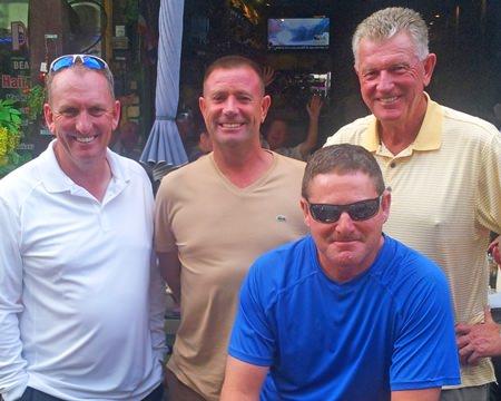 Jeff Cordeiro (front) with Ian Brimble, Martin Kingswood and Grant Cadell.