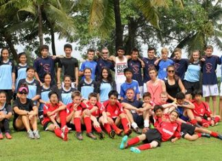 Regent's School footballers pose for a group photo during the tournament in Phuket, held from 8-9 November.