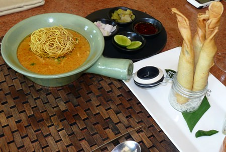 Khao soi and spring rolls.
