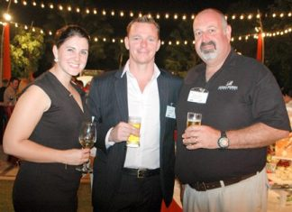 (L to R) Sarah Daly, Socialfi Business Development Manager; Matt Wales, Socialfi General Manager, Southeast Asia; and Scott Finsten, Harbour Master at Ocean Marina Yacht Club.
