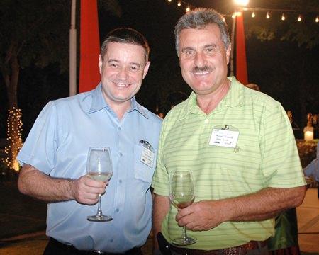 (L to R) Mark Tristram from ANCA Manufacturing (Thailand) Ltd., Michael Diamente representing Dana Spicer.