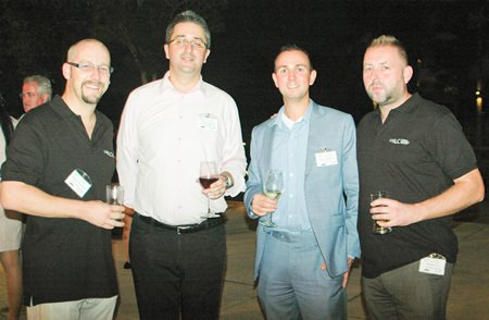 (L to R) Markus Wehrhahn, Managing Director of RLC Recruitment Co., Ltd.; Fabien Legouic; Matthias Brienen from the Larive Group; and Stephen Ley, representing RLC Recruitment Co., Ltd.