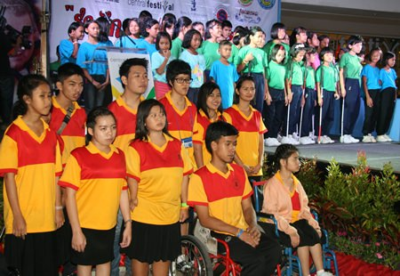 The children and students of the Father Ray Foundation perform together for the very first time.