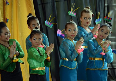 Primary students at GIS perform a traditional Thai dance.