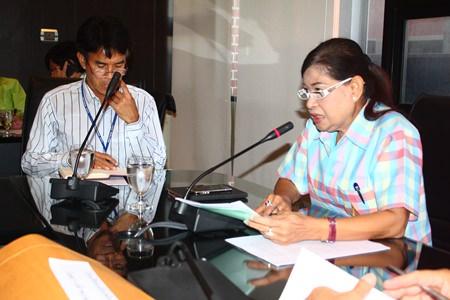 Jintana Maensurin (right), Pattaya's Education Department Director.