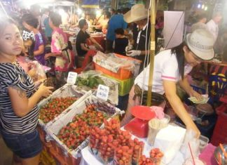 Naklua Walking Street market is open Saturday and Sunday nights from 5 p.m. to 10 p.m. every week through Jan. 12.