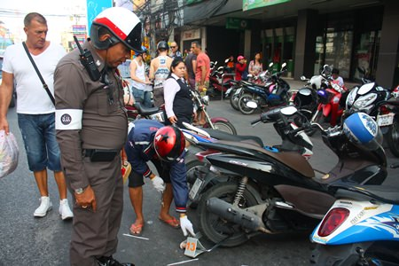Police are now locking the wheels of motorcycles, the owners of which have violated the alternate-side parking rules.