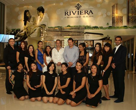 Winston Gale and his sales team welcome you to The Riviera at Wongamat.