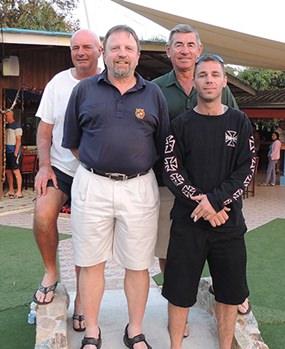 (From left) Steve Mann, Jon Kittilsen, Tim Knight & Jarod Braithwaite.