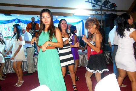The girls enjoyed the live music and showed some slick moves on the dance floor.