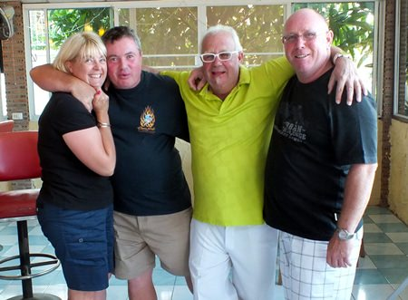 Karen & Alan Beck with Greig and Richard.