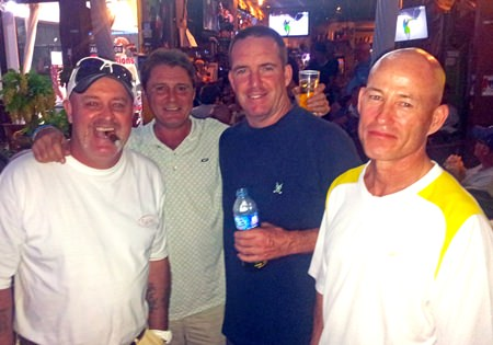 Dale Shier & Mark Wood with scramble winners John McHugh & Ernie McInerney.