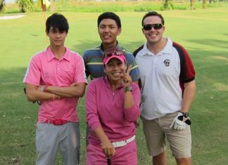 Students, parents and teachers all joined together for a great golfing day at Pattaya Country Club.
